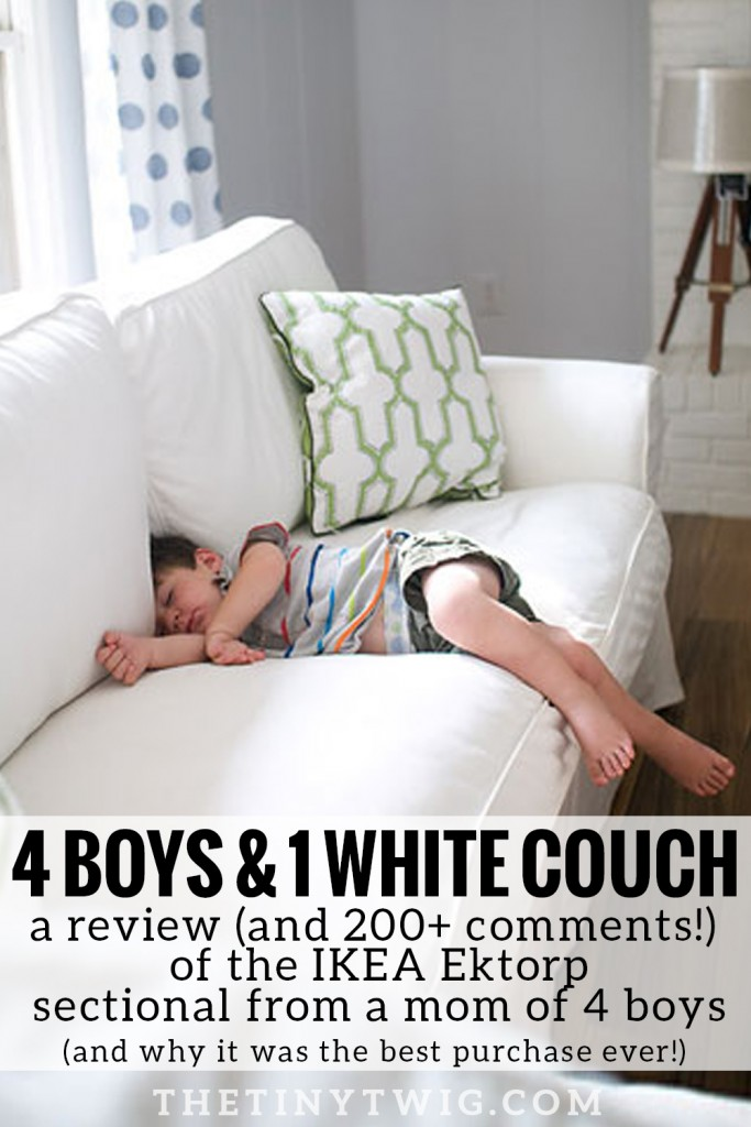Why getting a white couch was the best thing this mom did for her house and family.
