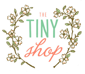 the tiny shop is open!