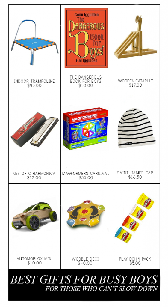 gift guide for busy boys