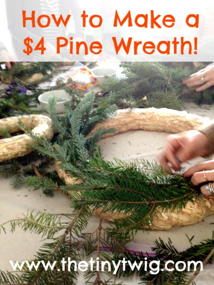 How to Make a Cheap Pine Wreath!