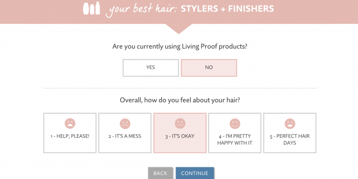 Living Proof Product Selector